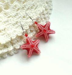 Star Beaded Earrings-Star Shaped Earrings-Seed Bead от Galiga