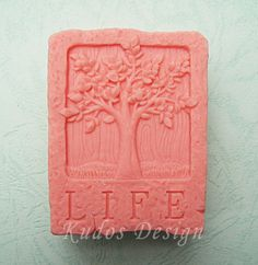 soap mold, silicone soap mold TH038 Tree of Life $27
