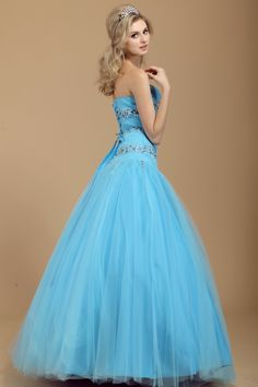 Ball Gown A-Line Sweetheart Floor-Length Beading Dashas Prom Dresses