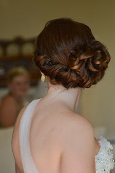 A Seaside Wedding in Indian Harbour, Nova Scotia Seaside Wedding, Bridal Updo, Bride Hairstyles, Updos, Real Weddings, Brides, Hair Beauty, Indian, My Style