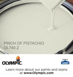 PINCH OF PISTACHIO OL740.2 is a part of the greens collection by Olympic® Paint.