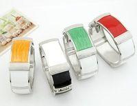 Moda elegante y generoso temperamento oval pulsera y brazalete de moda brazalete de la aleación de la joyería