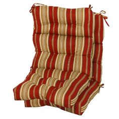Greendale Home Fashions Indoor/Outdoor High Back Chair Cushions, Roma Stripe, Set of 2 Set of Two, High Back Chair Cushion. Each cushion measures 44 x Outdoor Chair Pads, Outdoor Lounge Chair Cushions, Patio Chairs, Outdoor Furniture, Wooden Furniture, Garden Sitting Areas, Diy Home Security, High Back Chairs, Furniture Direct