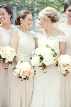 This photo is too sweet: http://www.stylemepretty.com/little-black-book-blog/2015/01/14/elegant-peach-dallas-wedding/ | Photography: Sarah Kate - http://sarahkatephoto.com/