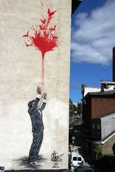 Street art by Nick Walker in NYC.
