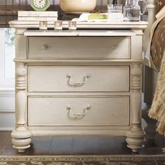 Harmon Nightstand - The French Riviera on Joss & Main - Love the pull out shelf.
