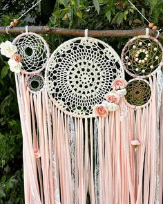Currently on hold-Dreamcatcher tree branch wall hanging-made