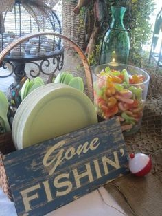 """Photo 17 of Fishing / Baby Shower/Sip & See """"Luke's Gone Fishin' Shower"""" Shower Party, Baby Shower Parties, Baby Shower Themes, Baby Boy Shower, Shower Ideas, Hunting Theme Baby Shower, Baby Showers, Bridal Shower, Gone Fishing Party"""