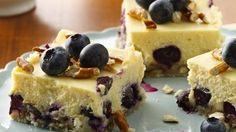 lemon blueberry cheese cake! sweet-treats-cakes-and-desserts