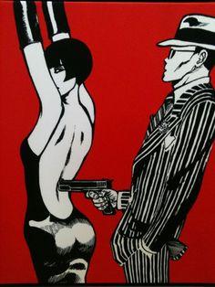 """ freudian_Valentina and the gangster's weapons by Guido Crepax "" Dark Beauty, Street Art, Pop Art Wallpaper, Louise Brooks, Morris, Film D'animation, Bd Comics, 1920s Art, Art Graphique"
