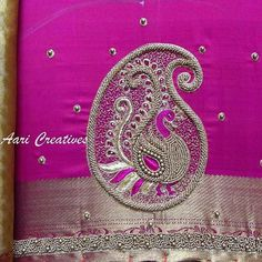 60 Best Ideas for embroidery blouse designs simple thread Kids Blouse Designs, Saree Blouse Neck Designs, Simple Blouse Designs, Bridal Blouse Designs, Embroidery Motifs, Embroidery Monogram, Embroidery Designs, Embroidery Blouses, Embroidery Thread