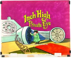 Production Cel, Inch High Private Eye Main Title Cel (Hanna-Barbera,1973).