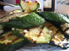 Grilled Zucchini complemented with shallots and a hint of garlic makes a wonderful, inexpensive and healthy side dish accompaniment with any meal.