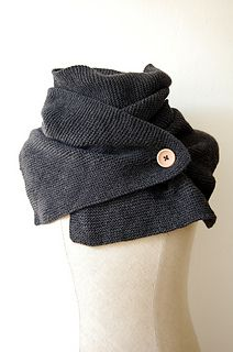 Easy garter stitch wrap... with a button!