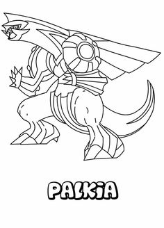 Pokemon Palkia Coloring Page