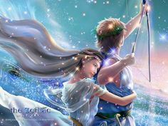 Well Sagittarius, what do you think of this lovely artist's rendition of the zodiac sing? We think it's beautiful and even a bit sparkly! Do you display zodiac artwork in your home? We think this work of art is certainly frame worthy! Sagittarius Wallpaper, Sagittarius And Capricorn, Aquarius, Fantasy Landscape, Fantasy Art, Capricorn Constellation Tattoo, Lovers Images, Pomes, Zodiac Art