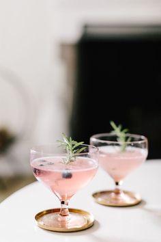 Blueberry Rosemary Smash Mocktail
