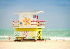 Lifeguard stand on Miami Beach | Florida
