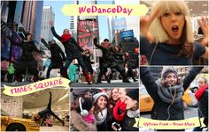 You gotta join the dance - Bruno Mars - Uptown Funk #WeDanceDay @ Times Square (20 Jan 2015)