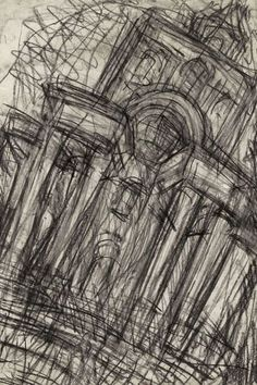 5 Dec 2013 at Mitchell-Innes & Nash in New York, United States A Level Art Sketchbook, Artist Sketchbook, Landscape Walls, Urban Landscape, Drawing Skills, Life Drawing, Leon Kossoff, Architecture Drawings, Architectural Features