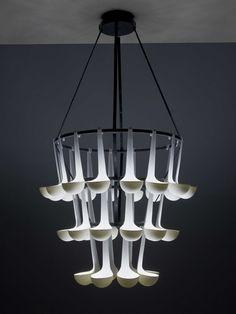 Unique Pendant Lamp Composed of Ladle   Ursule