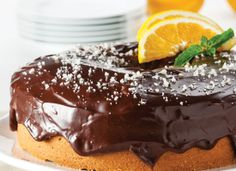 Buttermilk Orange Cake with Chocolate Ganache: A rich and decadent cake that's not too sweet, a sprinkle of gray sea salt over the chocolate ganache really makes this cake special!