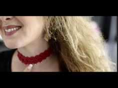Beaded Crochet Boho Choker - YouTube