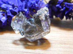 Herkimer Diamond Quartz Crystal Black Seed Cluster, Water Clear NY Mineral  | eBay