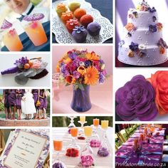 What color flowers go with Lapis (Dark Purple) :  wedding Purple And Orange Wedding Colours Primadonnabride Co Za