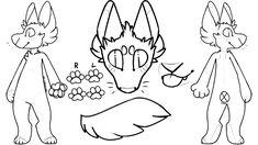 F2U Canine ref sheet base by LoafOfCorgi Furry Wolf, Furry Art, Cute Animal Drawings Kawaii, Cute Drawings, Drawing Reference Poses, Art Reference, Drawing Tips, Animal Sketches, Art Sketches