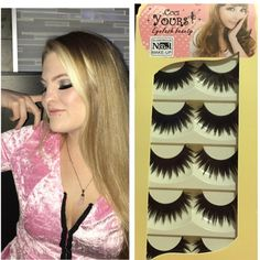 5 pairs of thick falsies, eyelashes, lashes Black, bold and thick.  These are my favorite brand I have found so far! Very dramatic and doll like.  Super sexy! Each box comes with 5 pairs Cuci Yours Makeup False Eyelashes