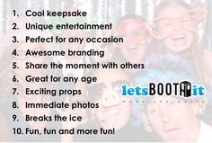 Here are 10 AMAZING reasons to have our #photobooth at your #birthday #party!