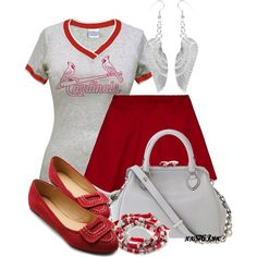 """Go Cards!!"" by xx8763xx on Polyvore (Change to a Twins shirt!)"