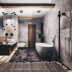 """Browse photos of Small Bathroom Tile Design. Find suggestions and inspiration for Small Bathroom Tile Design to enhance your house. Interior Design Minimalist, Contemporary Interior Design, Modern Bathroom Design, Bathroom Interior Design, Bath Design, Spa Design, Interior Modern, Minimal Bathroom, Tile Design"