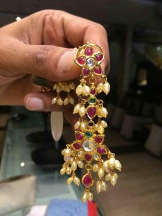 J Royal Jewelry, Emerald Jewelry, Indian Jewelry, Diamond Jewelry, Gold Jewelry, Jewelery, Jewelry Design Earrings, Gold Earrings Designs, Beaded Jewelry Designs