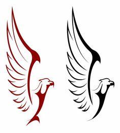 تصميم شعار رسم صقر و نسر ملف مفتوح