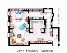 #carrie #bradshaw 's apartment #sexandthecity