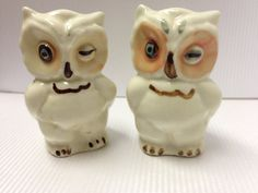 Shawnee Salt and Pepper Owls by SylviasFinds on Etsy, $10.00