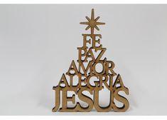Christmas Jesus Lasercut MDF christmas tree