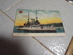 1909 USS Alabama Battleship US Navy Vintage UB Postcard B