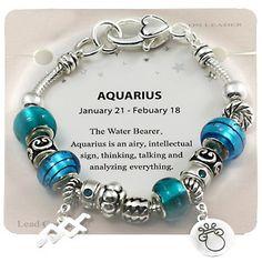 Aquarius And Scorpio, Aquarius Woman, Capricorn And Aquarius, Zodiac Signs Aquarius, Aquarius Facts, Horoscope Signs, Horoscopes, Pandora Bracelet Charms, Pandora Jewelry