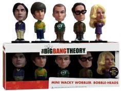 Figura Pack THE BIG BANG THEORY Comic Con Mini Bobble Head Wacky Wobbler Funko