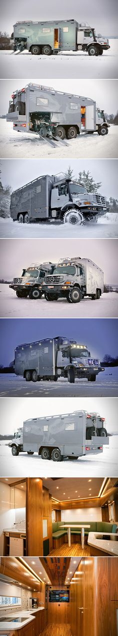 Mercedes-Benz Zetros 6x6 Expedition Vehicle is a Luxury Home on Wheels, Complete with ATV Garage.