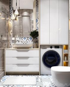 59 New Ideas For Bathroom Design Small White Mirror Laundry Room Bathroom, White Bathroom, Modern Bathroom, Bath Room, Mirror Bathroom, Bathroom Storage, Rustic Bathrooms, Dream Bathrooms, Amazing Bathrooms