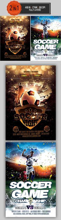 Soccer Flyer Template PSD Bundle