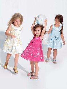 Vestido estampado niña AZUL CLARO ESTAMPADO+BLANCO CLARO ESTAMPADO+ROSA FUERTE ESTAMPADO