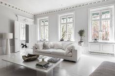 〚 Bold decor in artful white Swedish apartment 〛 ◾ Photos ◾Ideas◾ Design Living Room Interior, Living Room Decor, White Apartment, Dream Apartment, Apartment Design, Home And Deco, Home Renovation, Future House, Living Area