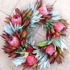 Protea wreath, Flora Grubb, Wild Ridge Organics