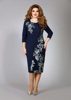 52a86145eff2 Классическое платье с вышитым передом– купить в интернет-магазине «L MARKA»
