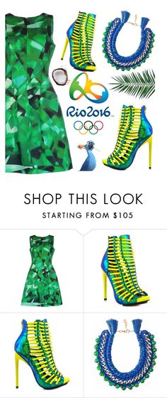 """""""Pack and Go - Rio!"""" by deeyanago ❤ liked on Polyvore featuring Oscar de la Renta, Luichiny, Ricardo Rodriguez, Opening Ceremony, Nika, rio, Packandgo and rio2016"""